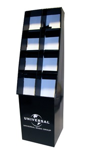 corrugated display stands for cd dvd and blu ray